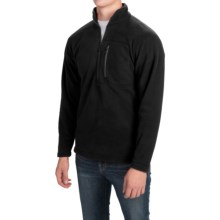 Fleece Pullover Jacket - Zip Neck (For Men) in Black - 2nds