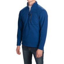 Fleece Pullover Jacket - Zip Neck (For Men) in Dark Blue - 2nds