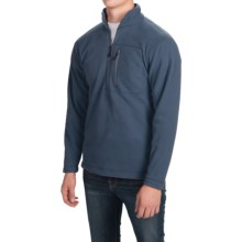Fleece Pullover Jacket - Zip Neck (For Men) in Navy - 2nds