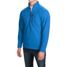 Fleece Pullover Jacket - Zip Neck (For Men) in Turquoise - 2nds