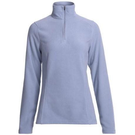Fleece Pullover Jacket - Zip Neck (For Women) in Atmosphere