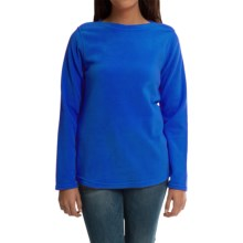 Fleece Shirt - Boat Neck, Long Sleeve (For Women) in Persian Cobalt - 2nds