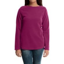 Fleece Shirt - Boat Neck, Long Sleeve (For Women) in Raspberry Wine - 2nds