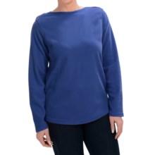 Fleece Shirt - Crew Neck, Long Sleeve (For Women) in Blue - 2nds