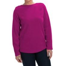 Fleece Shirt - Crew Neck, Long Sleeve (For Women) in Fuchsia - 2nds