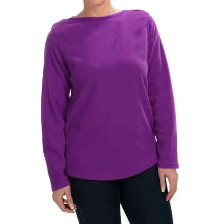 Fleece Shirt - Crew Neck, Long Sleeve (For Women) in Purple - 2nds