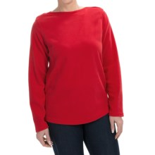 Fleece Shirt - Crew Neck, Long Sleeve (For Women) in Red - 2nds