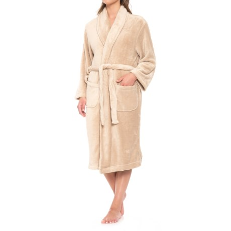 Fleece Spa Robe - Long Sleeve (For Women)