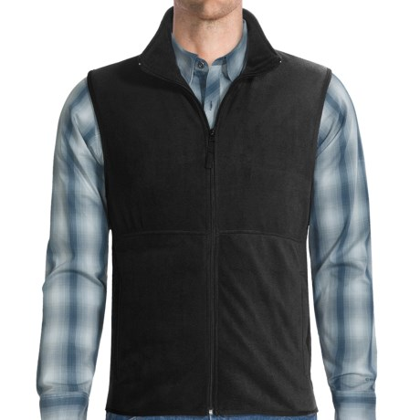 Fleece Vest (For Men) in Black