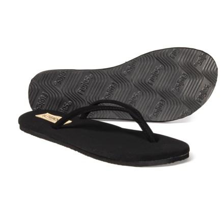 e232e5003 FLOJOS Fiesta Flip-Flops (For Women) in Black - Closeouts