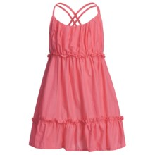 Floral Dress - Criss-Cross Back Straps (For Girls) in Coral - Closeouts