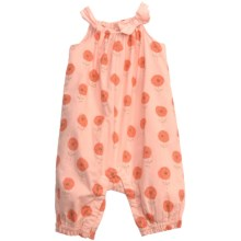 Floral Romper - Sleeveless (For Infant Girls) in Peach - 2nds