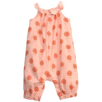 Floral Romper - Sleeveless (For Infant Girls) in Peach