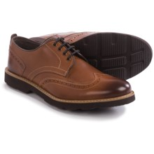 Florsheim Casey Oxford Shoes - Leather, Wingtip (For Men) in Cognac - Closeouts