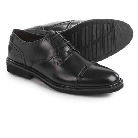 Florsheim Cleveland Oxford Shoes - Leather, Cap Toe (For Men) in Black - Closeouts