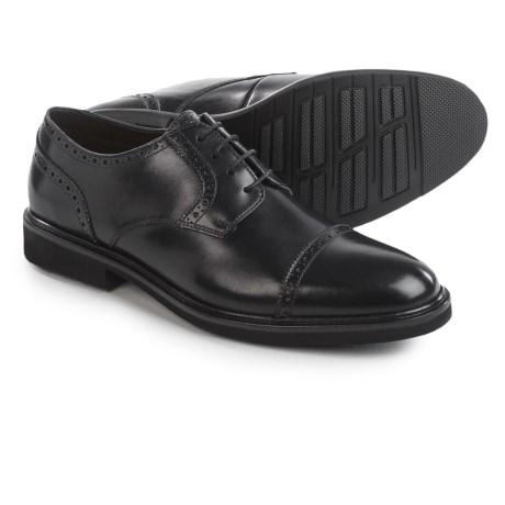 Florsheim Cleveland Oxford Shoes - Leather, Cap Toe (For Men) in Black