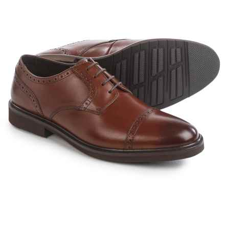 Florsheim Cleveland Oxford Shoes - Leather, Cap Toe (For Men) in Cognac - Closeouts
