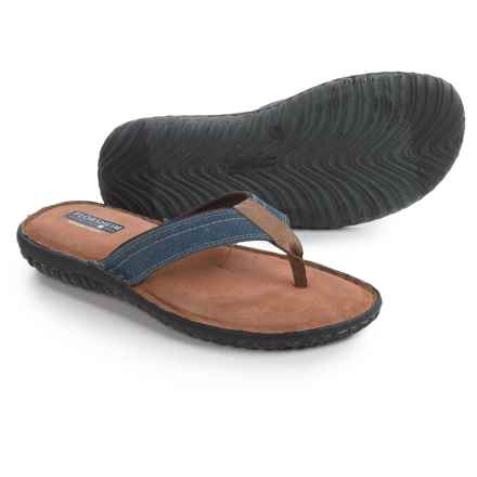 Florsheim Coastal Flip-Flops - Leather (For Men) in Navy - Closeouts