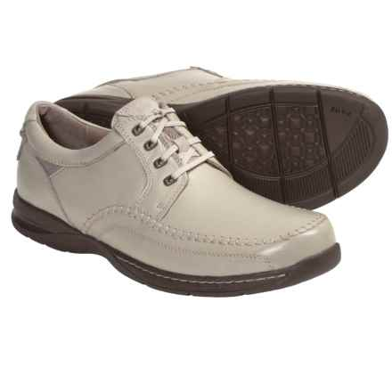 Florsheim Decatur Oxford Shoes - Leather, Moc Toe (For Men) in Bone - Closeouts