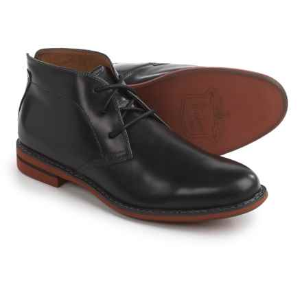 Florsheim Doon Chukka Boots - Leather (For Men) in Black - Closeouts