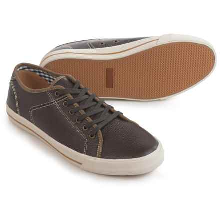 Florsheim Flash Plain-Toe Sneakers - Leather (For Men) in Brown Tumbled - Closeouts