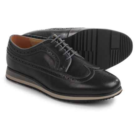 Florsheim Flux Wingtip Oxford Shoes - Leather (For Men) in Black - Closeouts