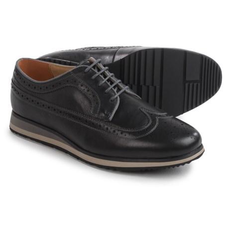 Florsheim Flux Wingtip Oxford Shoes - Leather (For Men) in Black