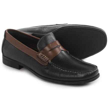 Florsheim Franklin Penny Loafers - Leather (For Men) in Black/Brown - Closeouts