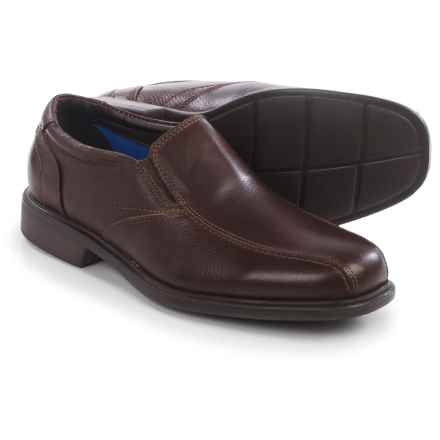 Florsheim Freedom Bike Toe Shoes - Leather, Slip-Ons (For Men) in Brown Tumbled - Closeouts
