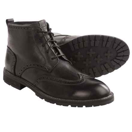 Florsheim Gaffney Wingtip Boots (For Men) in Black - Closeouts