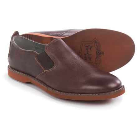 Florsheim HiFi Plain-Toe Shoes - Leather, Slip-Ons (For Men) in Brown Tumbled - Closeouts