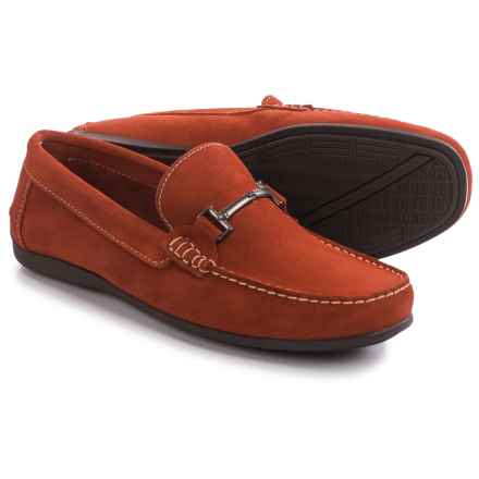 Florsheim Jasper Bit Loafers - Suede (For Men) in Burnt Orange - Closeouts