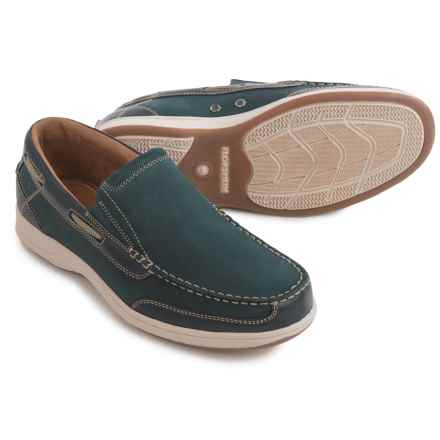 Florsheim Marina Shoes - Leather, Slip-Ons (For Men) in Navy - Closeouts