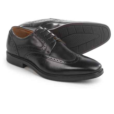 Florsheim Pinnacle Wingtip Oxford Shoes - Leather (For Men) in Black - Closeouts
