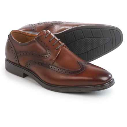 Florsheim Pinnacle Wingtip Oxford Shoes - Leather (For Men) in Cognac - Closeouts