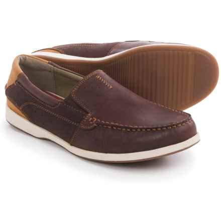Florsheim Riptide Moc-Toe Shoes - Slip-Ons (For Men) in Chestnut - Closeouts
