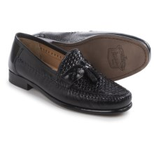 Florsheim Swivel Weave Tassel Loafers - Leather (For Men) in Black - Closeouts