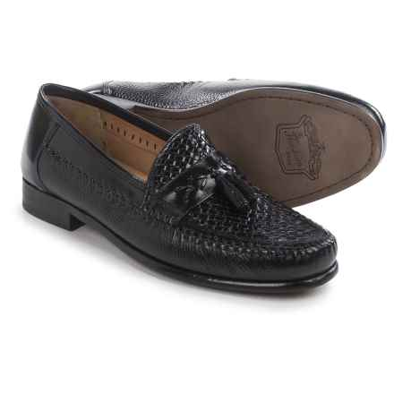 Florsheim Swivel Weave Tassel Loafers - Leather (For Men) in Black - Closeouts