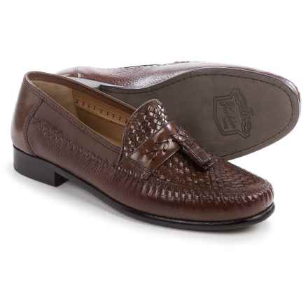 Florsheim Swivel Weave Tassel Loafers - Leather (For Men) in Cognac - Closeouts