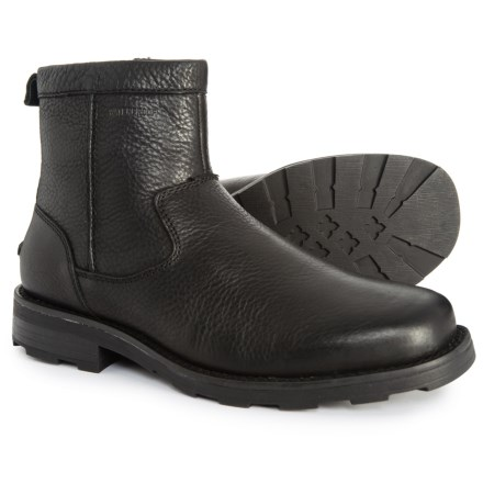 b577ed2948df Florsheim Trektion Boots - Waterproof, Leather, Faux Fur (For Men) in Black