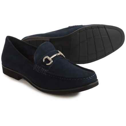 Florsheim Tuscany Bit Loafers - Leather (For Men) in Navy Suede - Closeouts