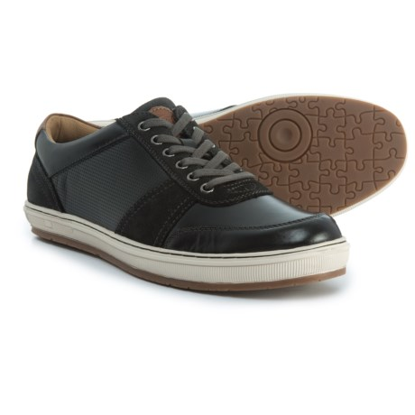 Florsheim Venue Moc-Toe Lace-Up Sneakers - Leather (For Men) in Black