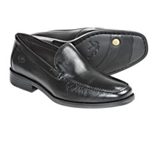 Fluchos Rafael Leather Venetian Loafer Shoes - Featherlight (For Men) in Brass Black - Closeouts