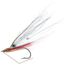 Fly H20 by Umpqua Alf Back Country Minnow Saltwater Fly - Dozen in White Baitfish - Closeouts