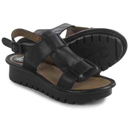 Fly London Kani Sandals - Leather (For Women) in Black - Closeouts