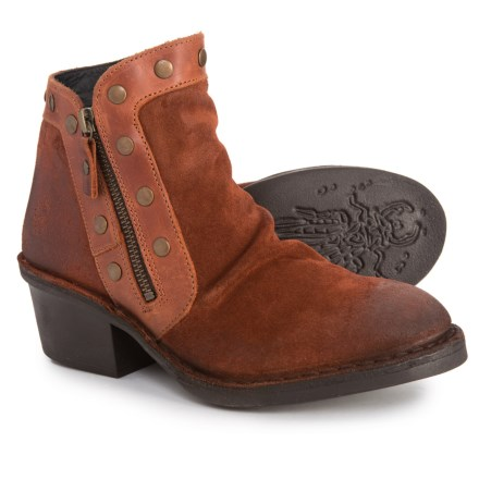 25b5804530 Clearance. Fly London Made in Portugal Duke941Fly Ankle Boots - Suede (For  Women) in Brick