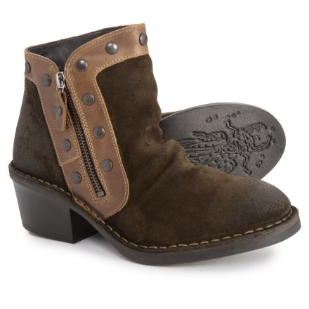 e5f2f3b326e6 Fly London Made in Portugal Duke941Fly Ankle Boots - Suede (For Women) in  Sludge