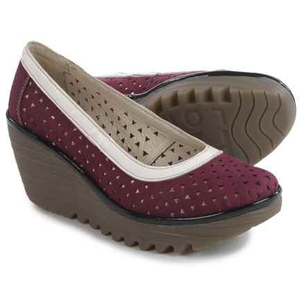 Fly London Yare Shoes - Leather (For Women) in Magenta/Off White/Black - Closeouts