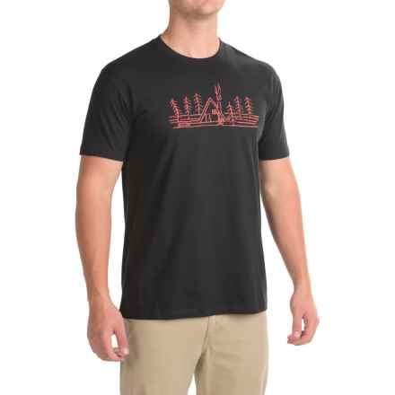 Flylow A-Frame T-Shirt - Cotton Blend, Short Sleeve (For Men) in Black - Closeouts