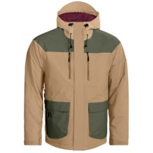 Flylow BA Puffy Ski Jacket - Waterproof, Insulated (For Men) in Camel/Cargo - Closeouts
